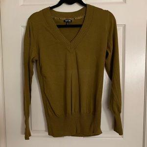 Olive green knit cardigan/ sweater